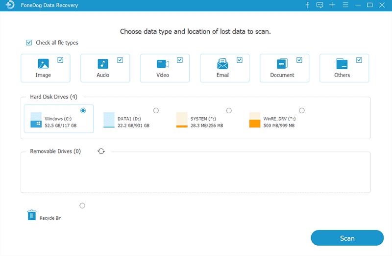 選擇數據和SanDisk SD卡