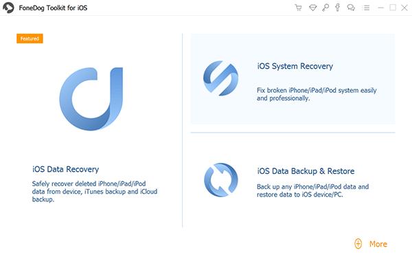 選擇 iOS 數據備份和恢復以將聯繫人從 iPhone 同步到 Mac
