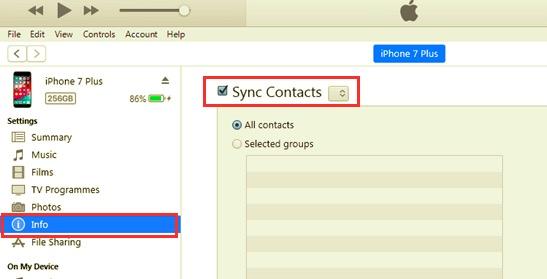 使用 USB 電纜將聯繫人從 iPhone 傳輸到 Mac