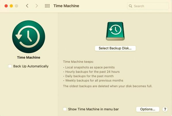 使用 Time Machine 恢復丟失的文件
