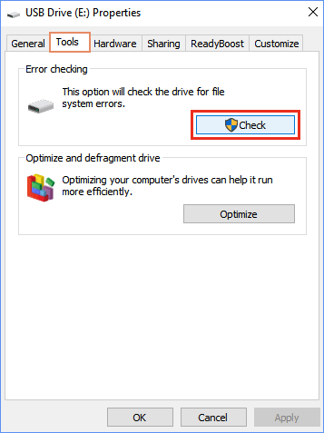 通過 USB 驅動器屬性修復損壞的閃存驅動器而不進行格式化