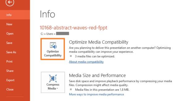使用您的媒體兼容性功能修復 PowerPoint 編解碼器不可用