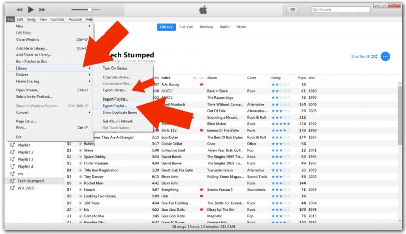 從 iTunes 程序導入播放列表